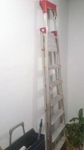 Escalera Aluminio 7 Peldaños (Usada)