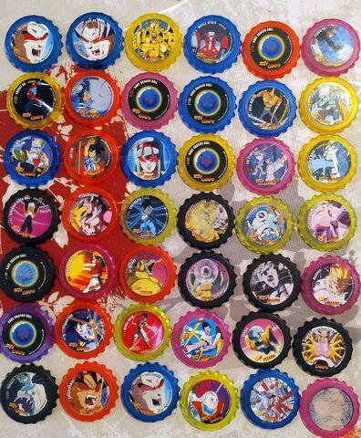 Coleccion 42 Tazos Chaps Dragon Ball