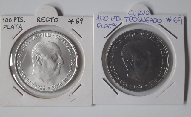 100 Pesetas De Franco 1966 * 69.Plata Cu