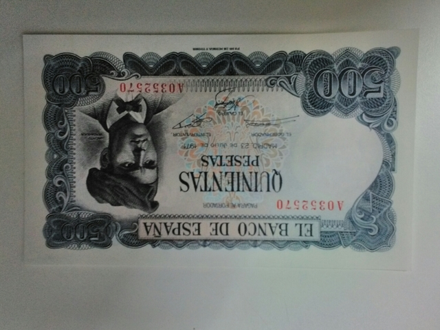 Billete De 500Pts