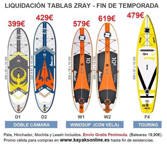 LIQUIDACIÓN TABLAS PADDLE SURF ZRAY 2020 - foto 1