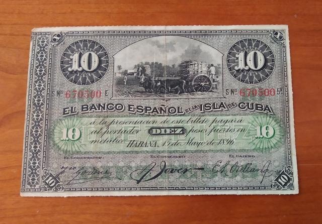 Billete De 10 Pesos 1896.