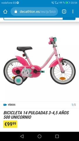 Bicicleta Decathlon Unicornio