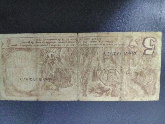 Billete Antiguo De Cataluña,