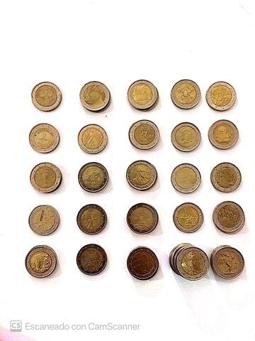 Lote Monedas De 2  Conmemorativas