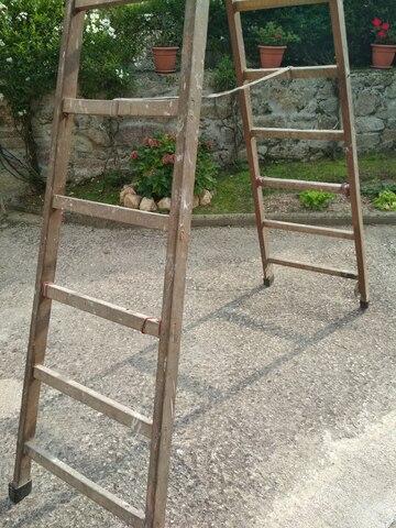 Escalera De Madera De 10 Peldaños