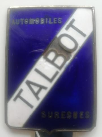 EMBLEMA DE TALBOT ESMALTADO DE 1920 - foto 3