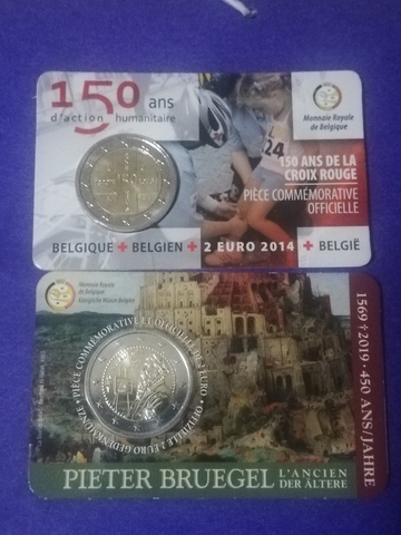 Monedas De 2 Euros De Belgica