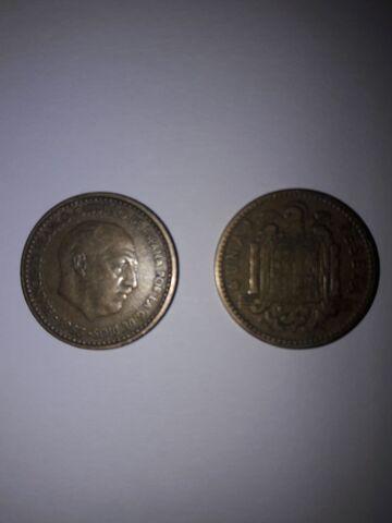 5 Monedas De 1 Peseta Franco 1963