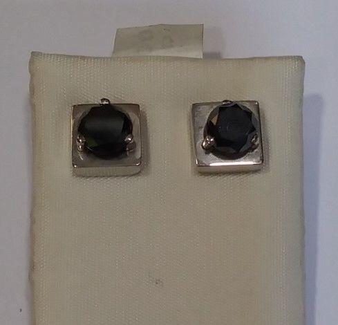 Pendientes Diamante Negro