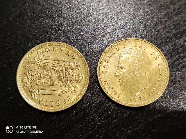 1 Pesetas Del Rey Año75Estrella 77