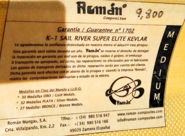 PIRAGUA ROMÁN DE RÍO K-1 - foto 5
