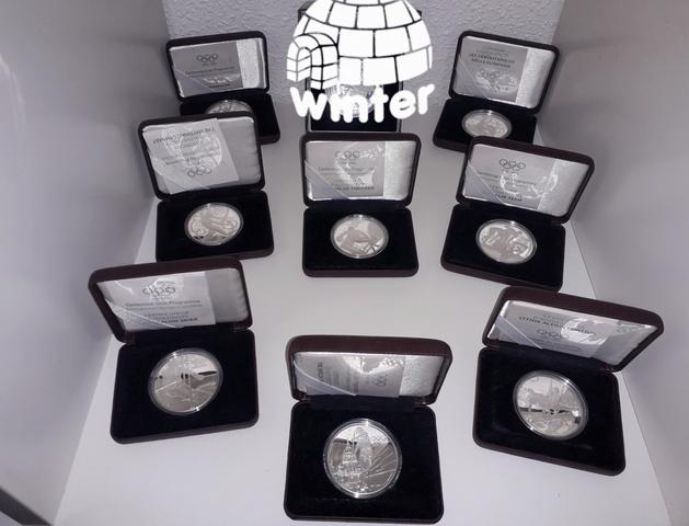 Lote Coleccion Monedas Plata Juegos Olim