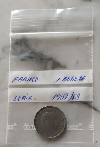 Moneda De Franco 5 Pesetas Serie 1957 63