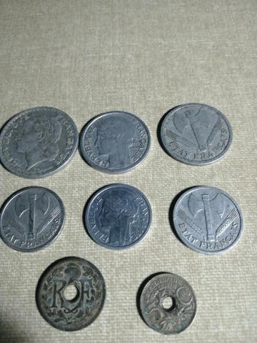 Lote De Francia 7 Monedas Antiguas