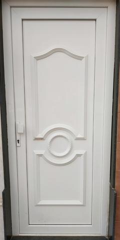 Puerta Entrada De Seguridad Pvc Blanca
