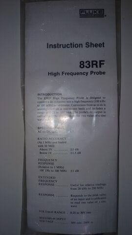 SONDA RF FLUKE - foto 2