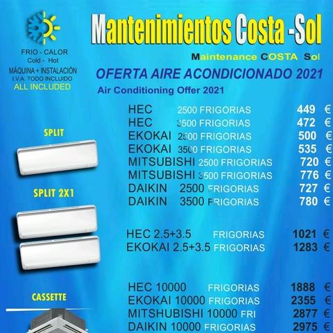 AIRE ACONDICIONADO OFERTA 2021 - foto 1