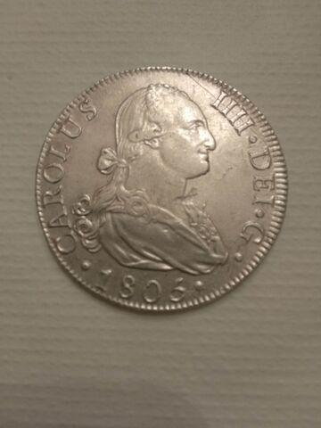 8 Reales De Carlos Iv Año 1.805