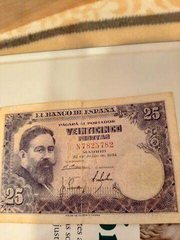 Monedas Y Billetes De Las Antiguas Peset