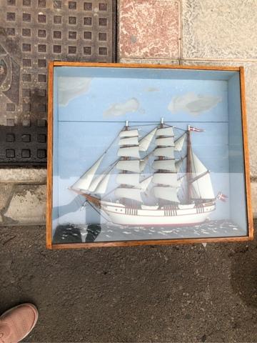 Maqueta De Barco Antigua