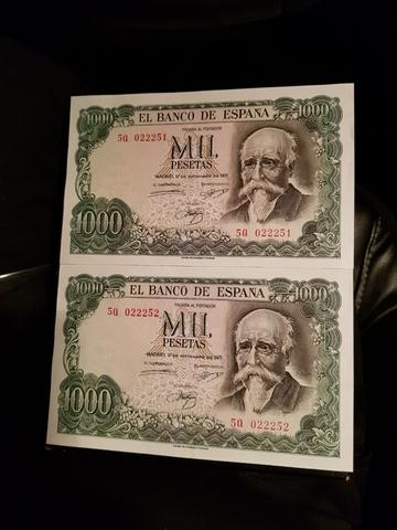 Billetes Mil Pesetas 1971