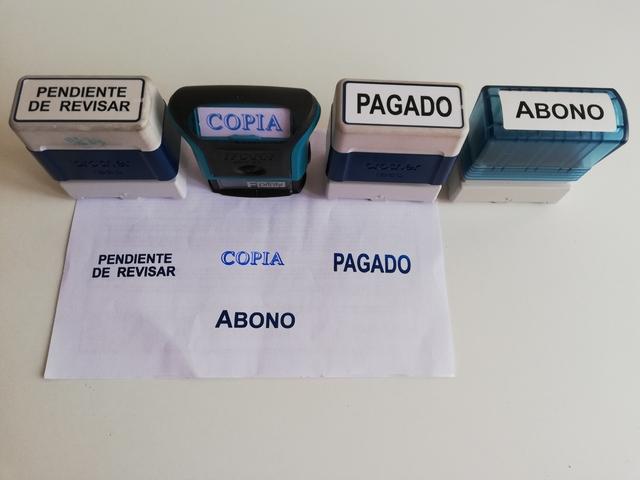 SELLOS DE CAUCHO (TAMPONES) - foto 1