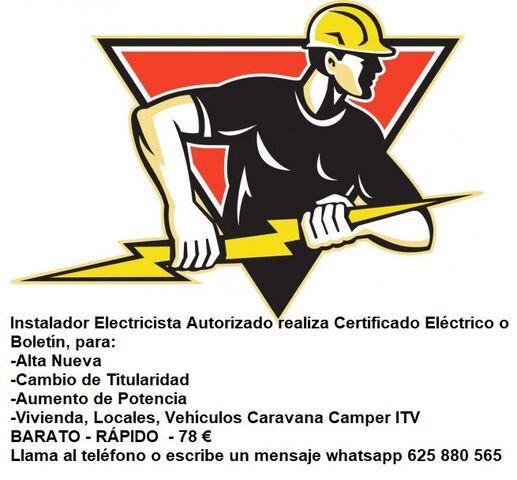 78 EUR BOLETÍN 625 880 565 ELECTRICISTA - foto 1