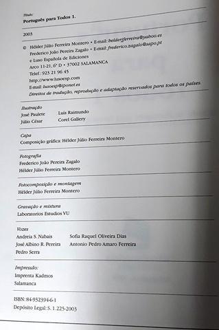 PORTUGUÉS PARA TODOS.  VOL.  1 I 2 - foto 3