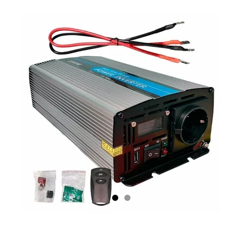 Inversor Solar 1000W 12V Onda Pura