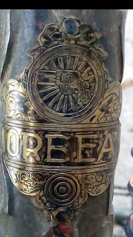 1930 Chapa Orbea Bici De Varillas Anti