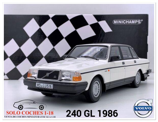 1:18 Volvo 240 Gl Año 1986 Color Blanco