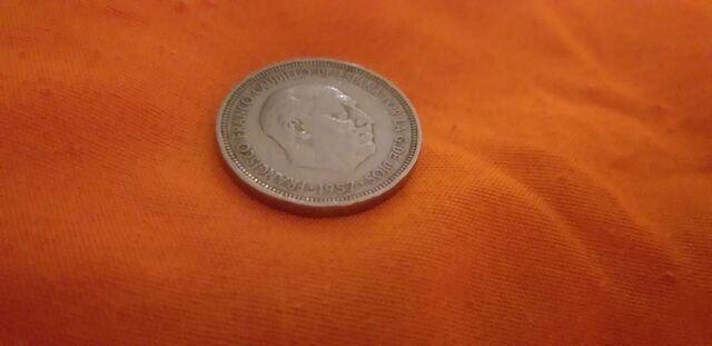 Moneda Antigua De 5 Pts Del Año 1957