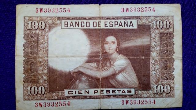 Billete De 100 Pesetas Del 1953