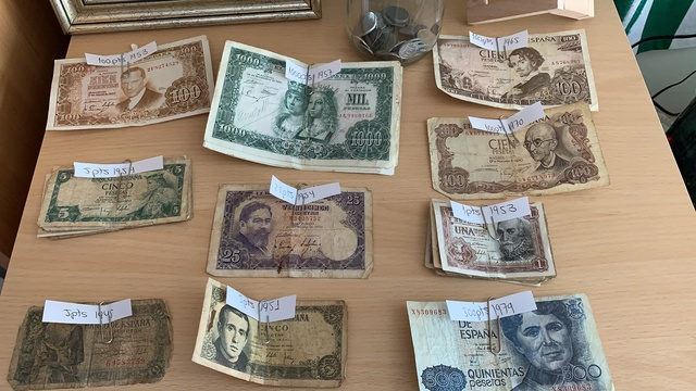 Monedas Y Billetes Antiguos Pesetas