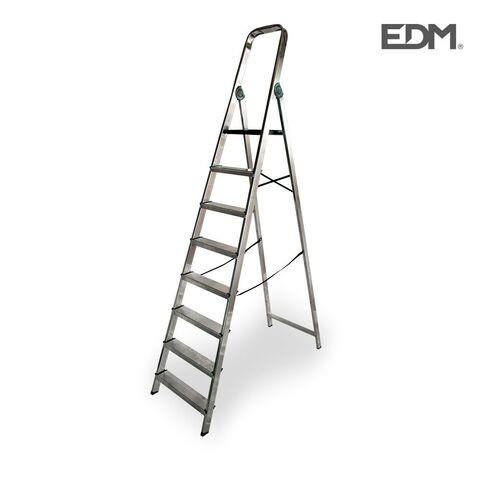 Escalera Edm  Aluminio 8 Peldaños