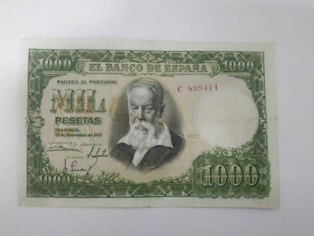 Billete 1000 Pesetas De 1951 Sorolla