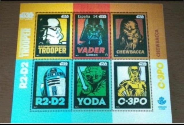 España Sellos Star Wars Originales 2017