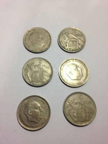 Monedas De 5 Pesetas