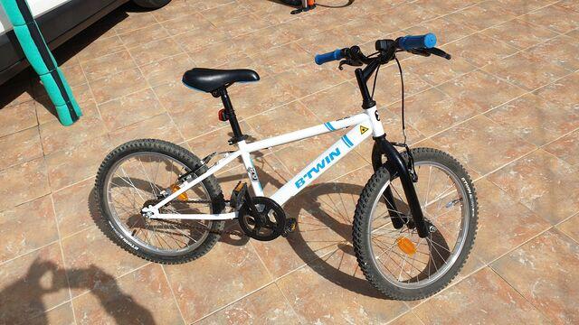 "Bicicleta 20\"" Pulgadas Btwin Blanca"