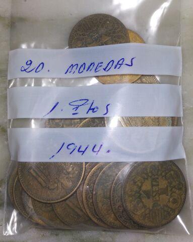 20 Monedas 1 Peseta 1944.