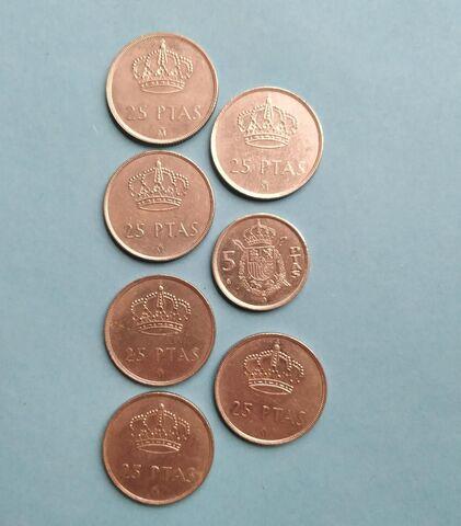 1984 Monedas 25/5 Pesetas
