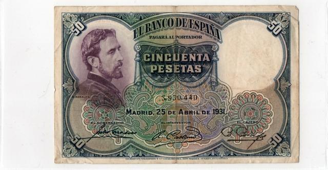 4 Billetes Españoles