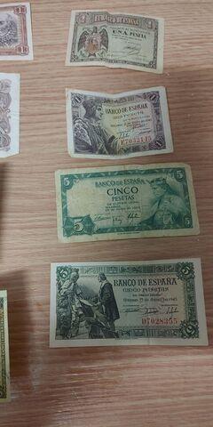 Billetes Y Monedas Pesetas Antiguos