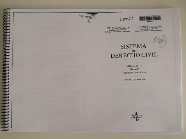 SISTEMA DERECHO CIVIL VOLUMEN IV TOMO 1 - foto 1
