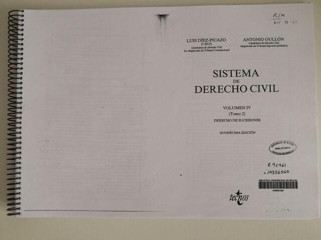 SISTEMA DERECHO CIVIL VOLUMEN IV.  TOMO 2 - foto 1