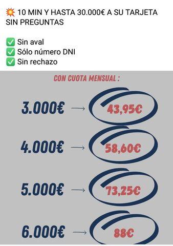 CRÉDITO HASTA 6000 EUROS SIN COMPLICACIO - foto 1