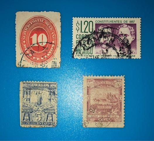 Lote 4 Sellos Antiguos De México!