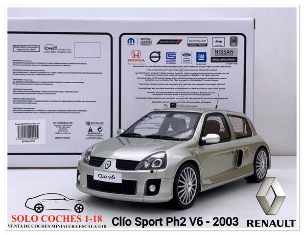 1:18 Renault Clio Ph2 V6 Año 2003 Gris