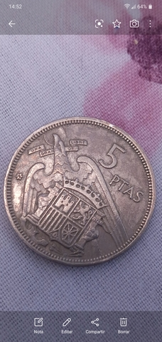 Monedas De 5 Pesetas Del Estado Español